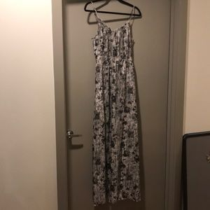 Theory floral maxi dress